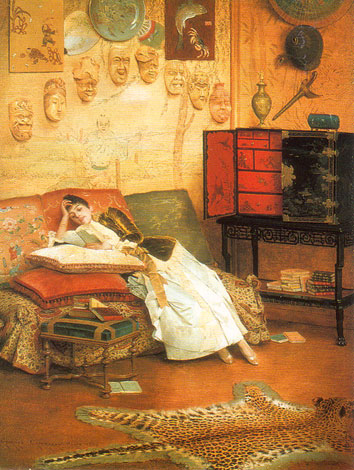 a work in progress reading woman