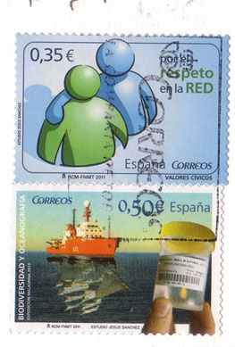 Two-spanish-stamps