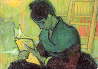 Woman-reading-by-van-gogh