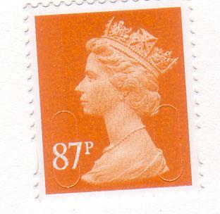 Queen-orange-stamp