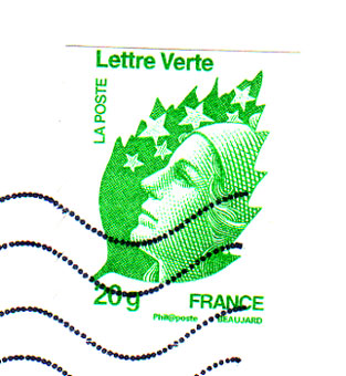 Lettre-verte-french-stamp