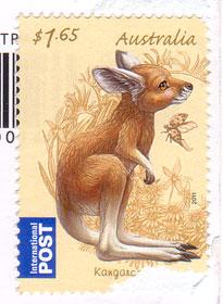 Kangaroo-stamp