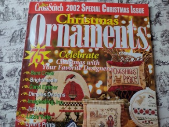 Just Cross Stitch 2002 Christmas Ornaments Collectors Edition image 0