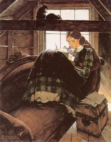 Writing-woman-rockwell